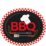 Backyard BBQ Oval Plates