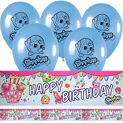 Shopkins Foil Banner & Latex Balloon Kit