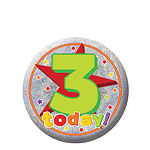 Happy 3rd Birthday Badge - 5.5cm