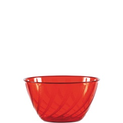Apple Red Swirl Bowl - 0.7L Plastic