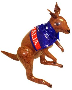 Inflatable Kangaroo 70cm - Australia Day