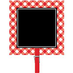 Picnic Party Chalkboard Clip - 8cm