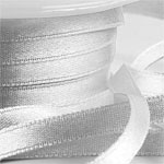 Silver Satin Ribbon - 6mm