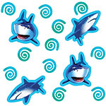 Shark Splash Table/Invite Confetti